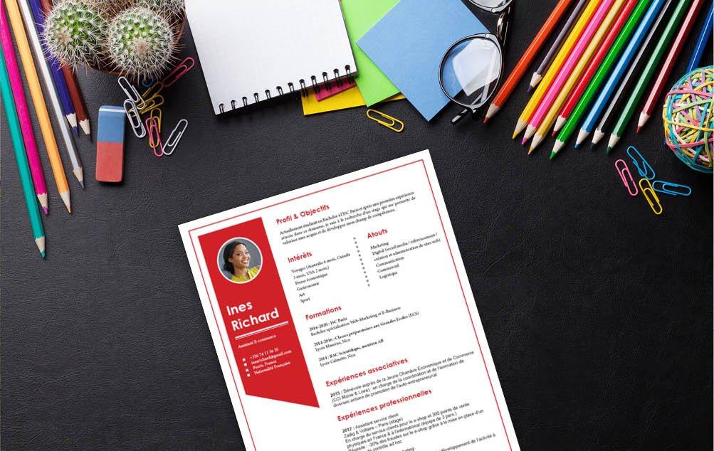Un modèle de CV séduisant grâce à une apparence soignée, alliant couleurs et formes.