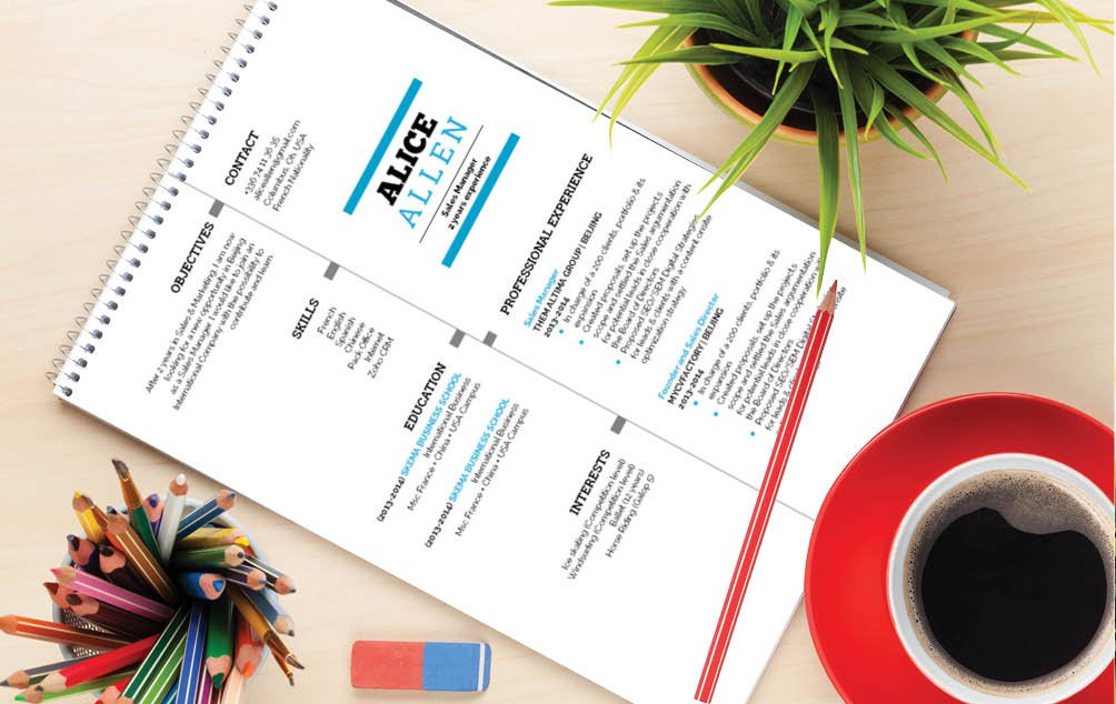 Ths student resume template has a unique and classic design sure to make your CV standout