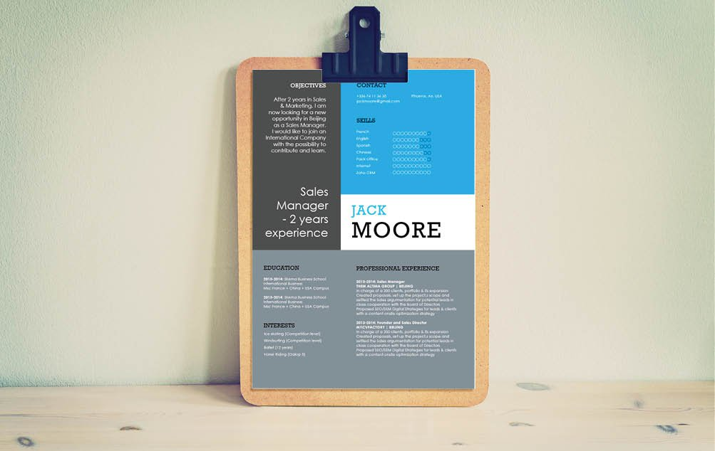 Need a great Modern  CV  design? Then choose this good resume template