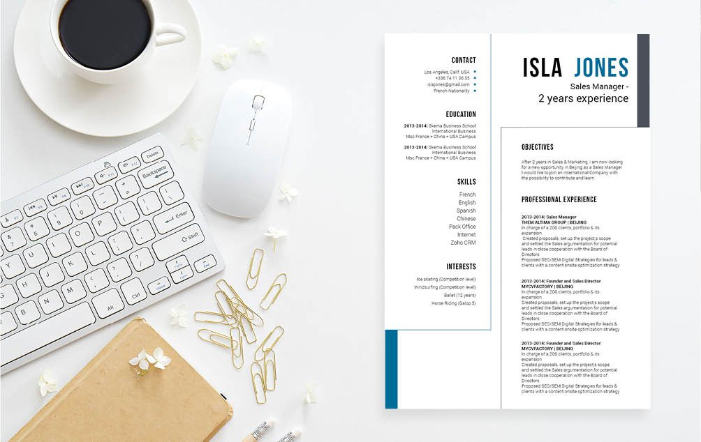 This resume template will help you land that dream job thanks to its professional format