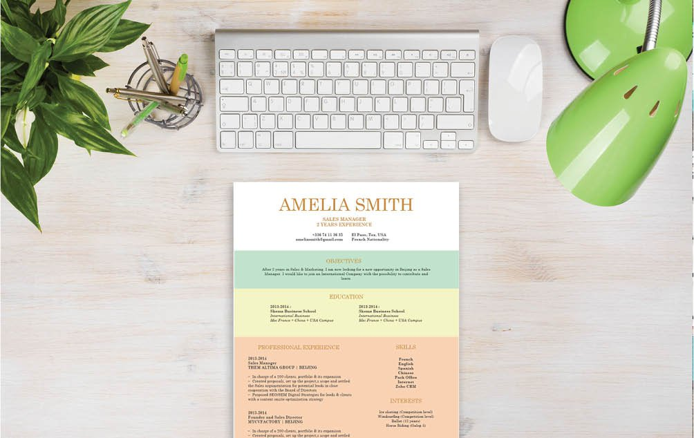 This job resume template has designs and styles that will surely make your CV stand out!