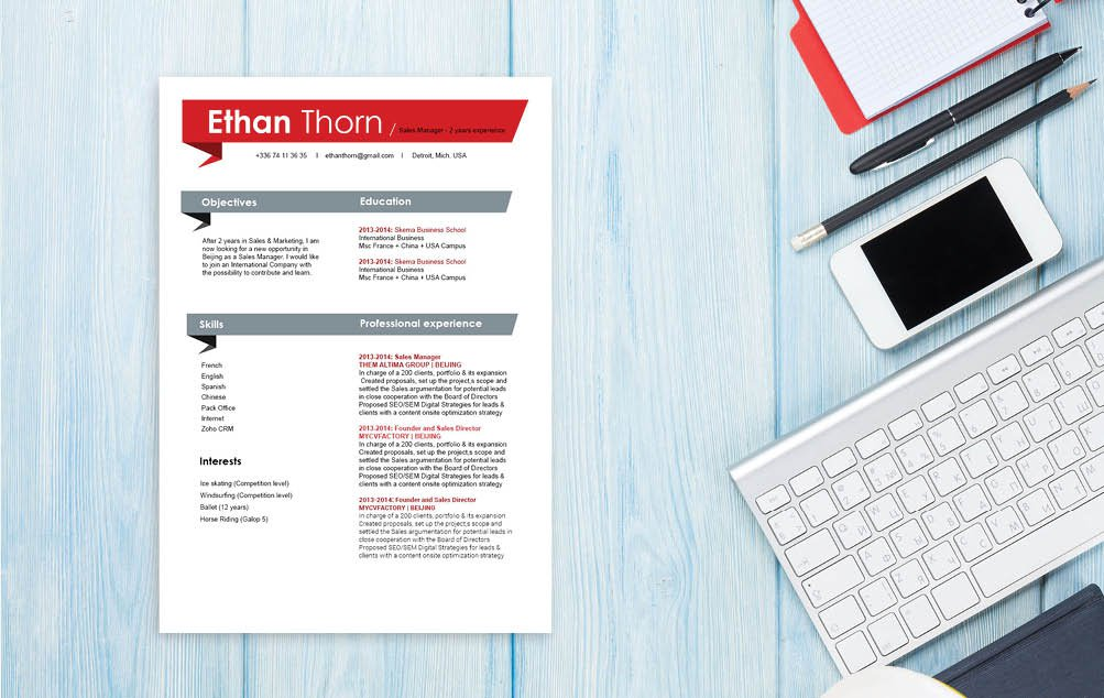 The best CV template of choice for any job seeker!
