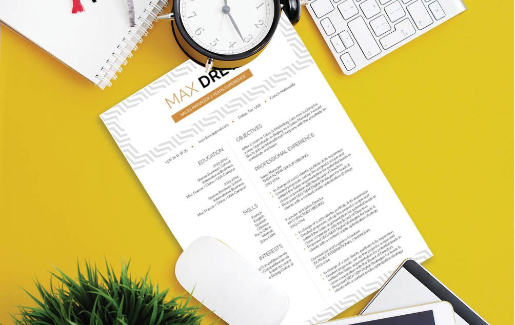 A clean, functional design will make this functional resume templatee a sure winner