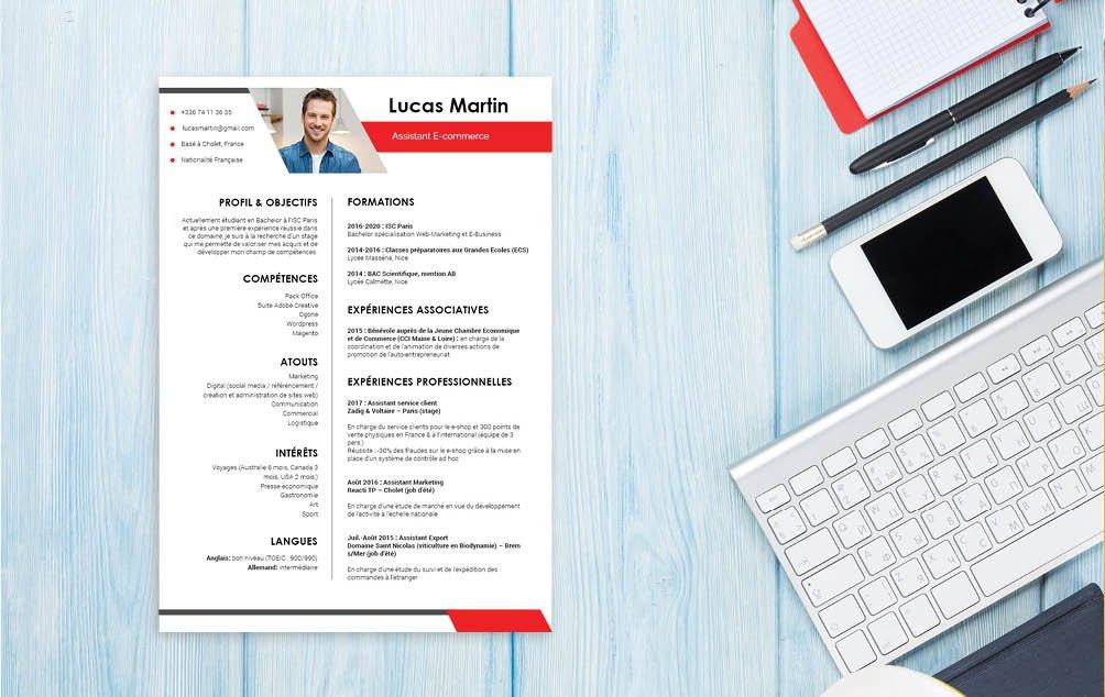 La lisibilité est une qualité essentielle pour un CV et est au centre des préoccupations de ce modèle.