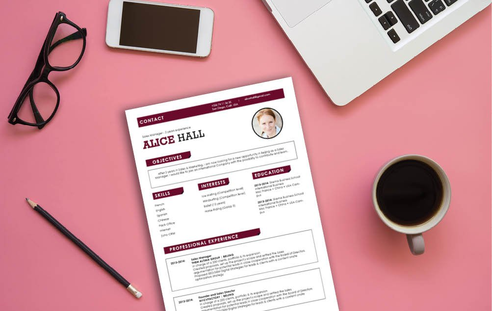 A rigorous and effective Simple resume template that is a sure a winner