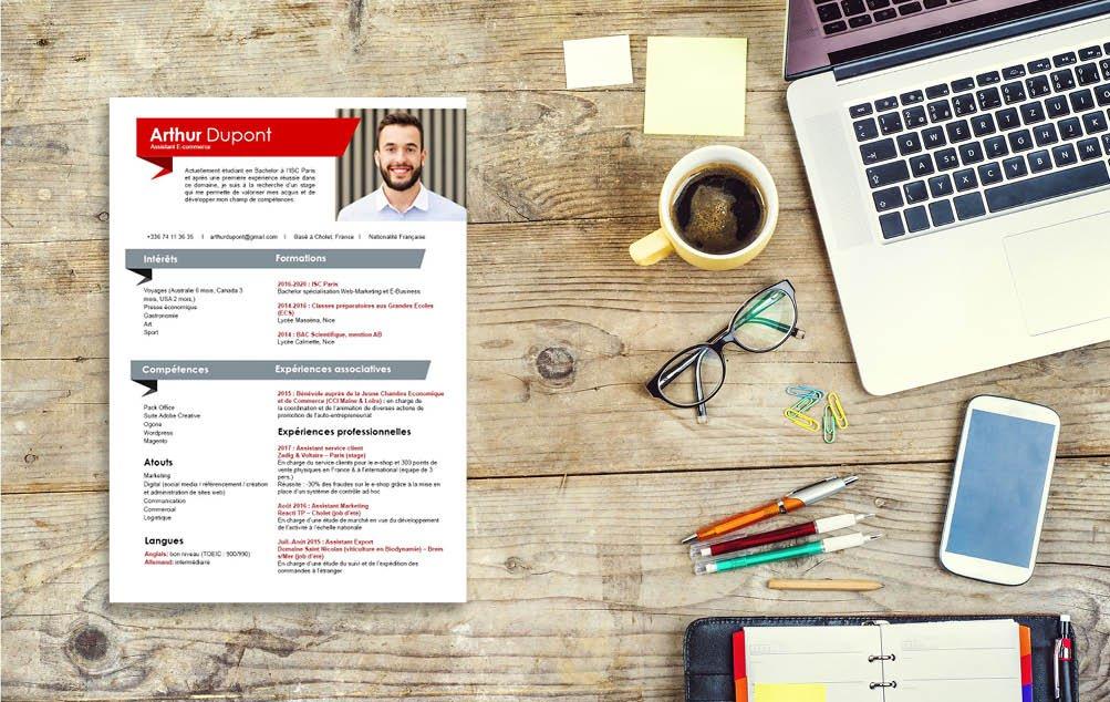 Un grand classique du CV qui saura satisfaire le plus grand nombre de recruteurs.
