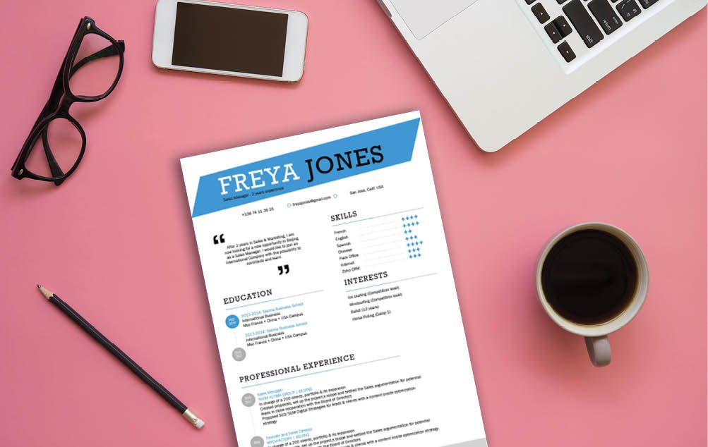 A great Simple CV template to use for any communications job!