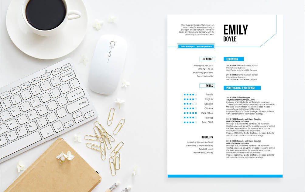 This Modern Resume template is all you need to create the perfect modern resume
