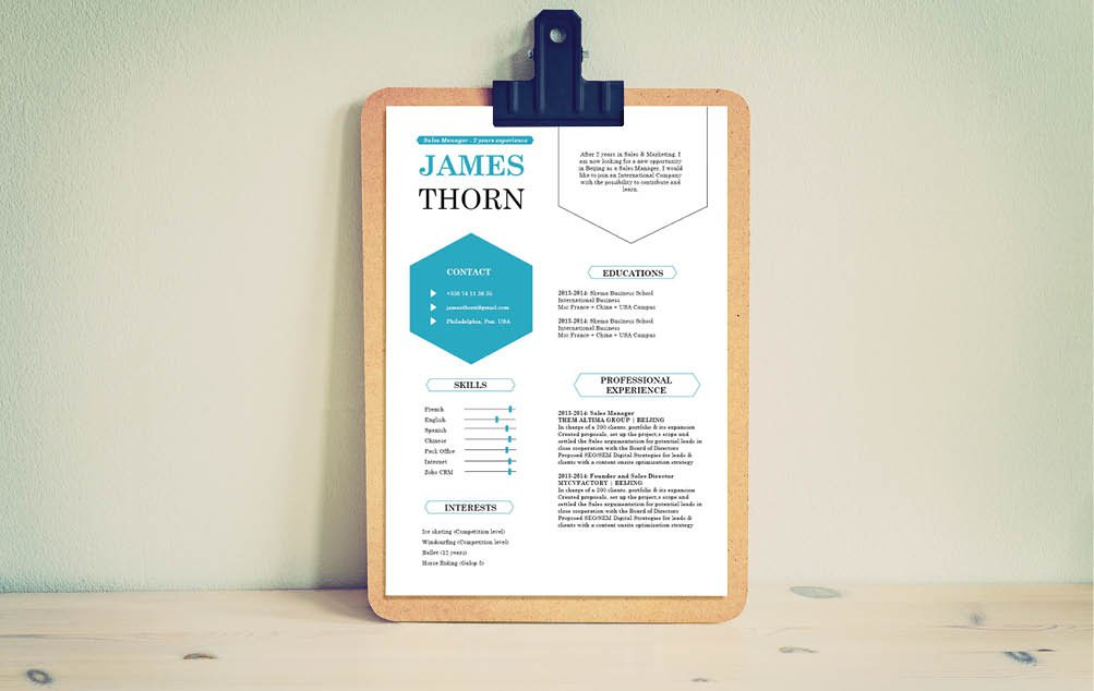 This is the perfect Modern  CV template with an excellent balance of style and professionalism