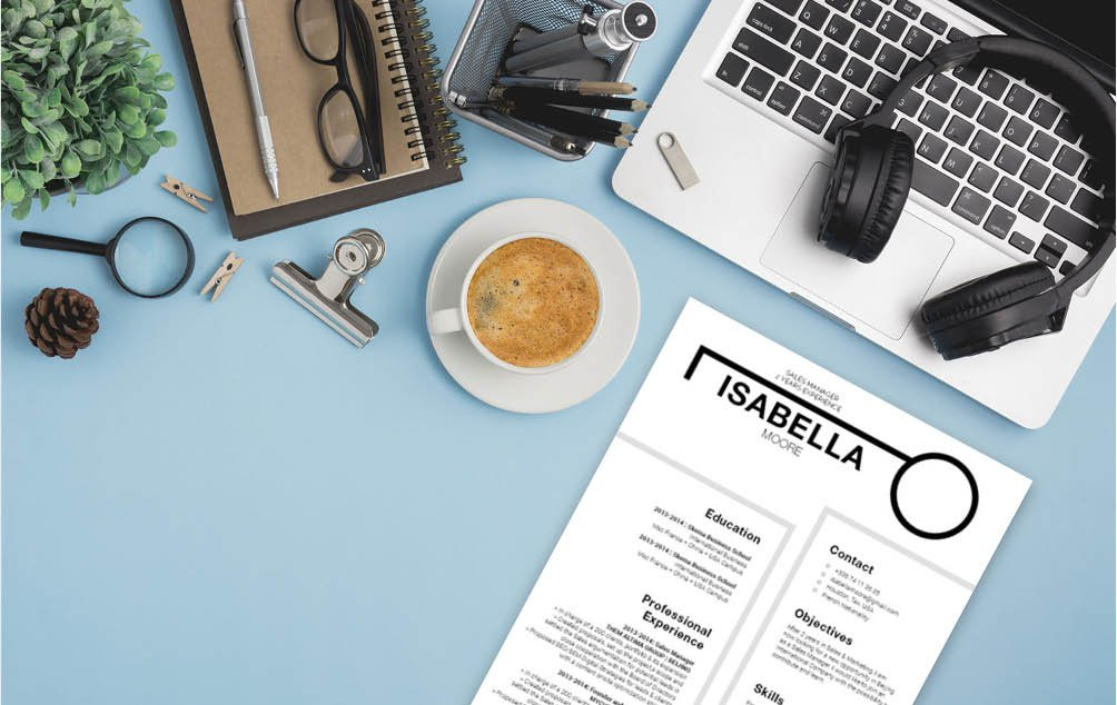 The blend of designs and colors create the best resume format for any job!