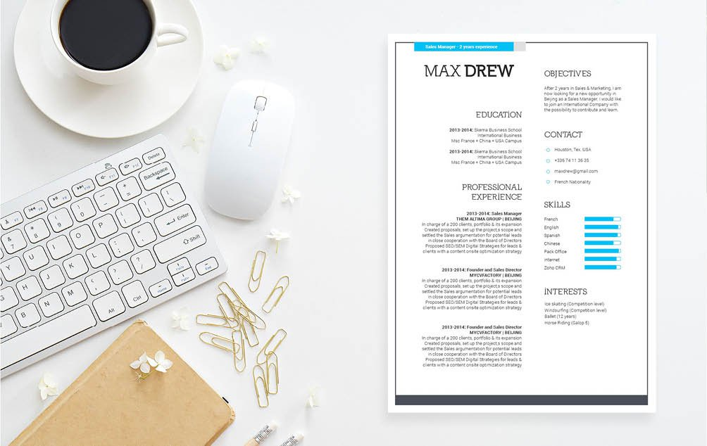 A creative Professional Resume template that is perfect for any working professional