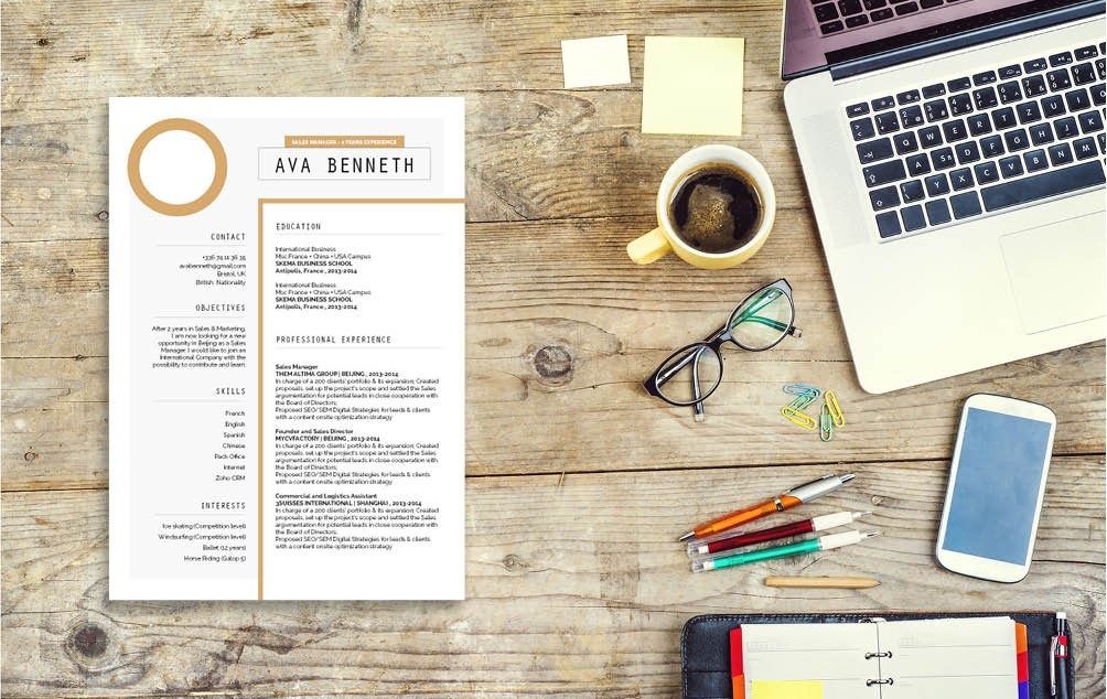 This Simple resume Template presents all the candidates qualifcations excellently