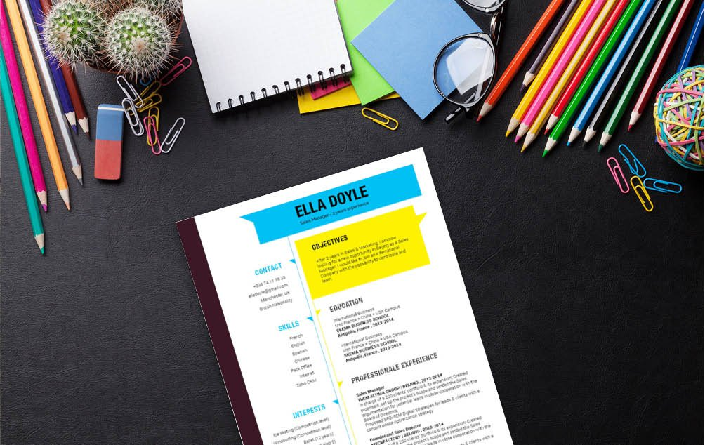 A great design mixed with a professional format makes this the functional CV template template of choice!
