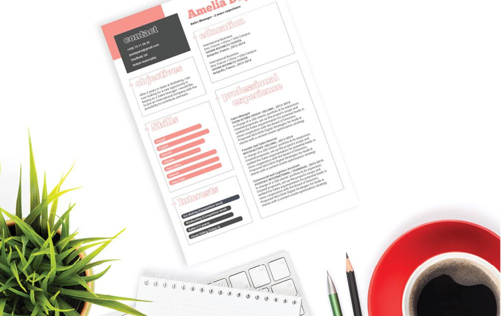 This is among the best modern cv format we have -- a creative and attractive design!