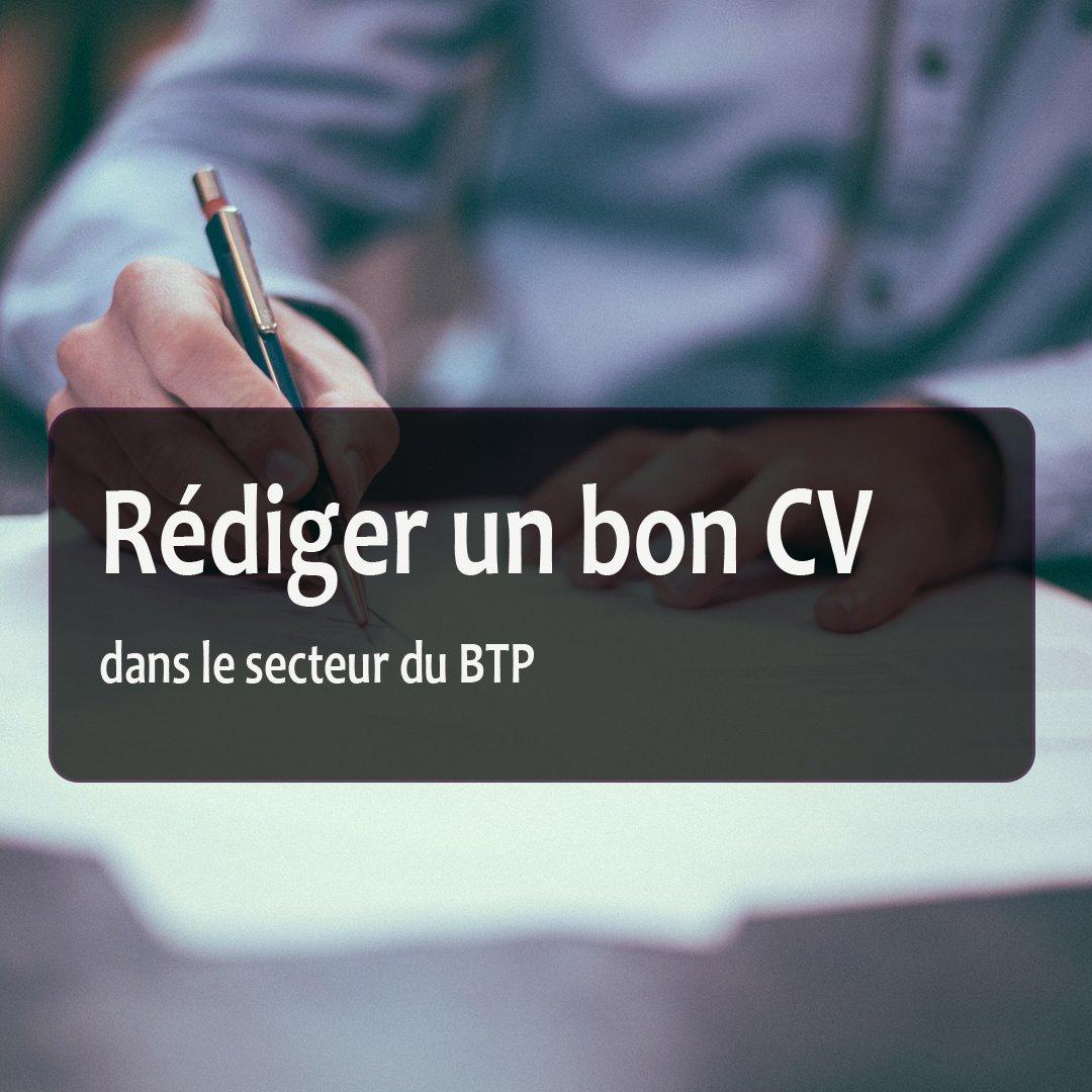 cv pour job btp   astuces et guide pour assurer sa