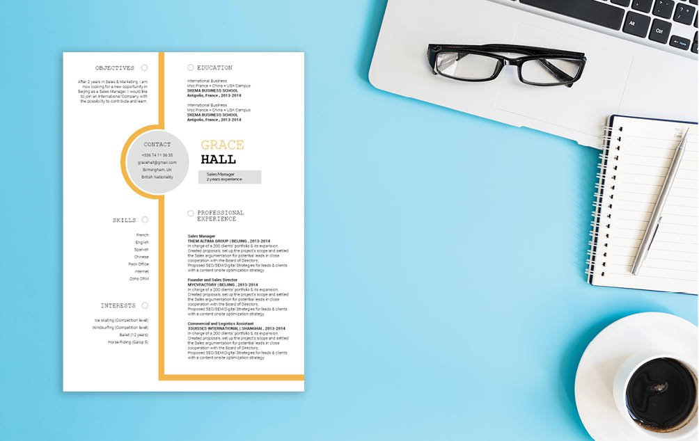 Create a great resume with an even greater design with this CV template