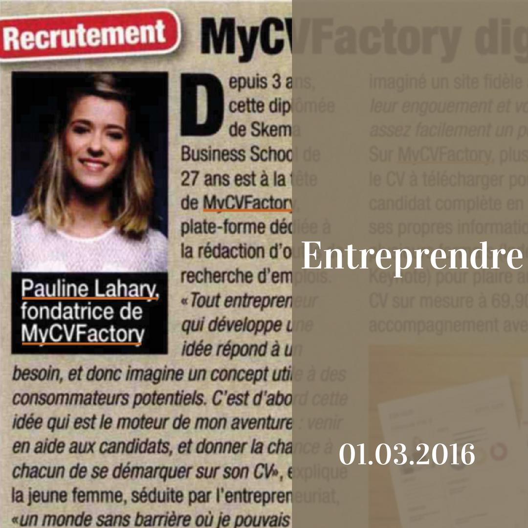 Entreprendre et Mycvfactory