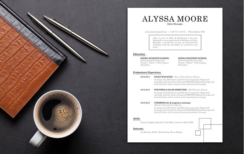 This resume template has a straightforwad and classic design made for the modern work age