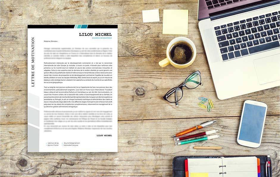 Une lettre de motivation artistique préconisée pour le secteur du marketing et du service clientèle.