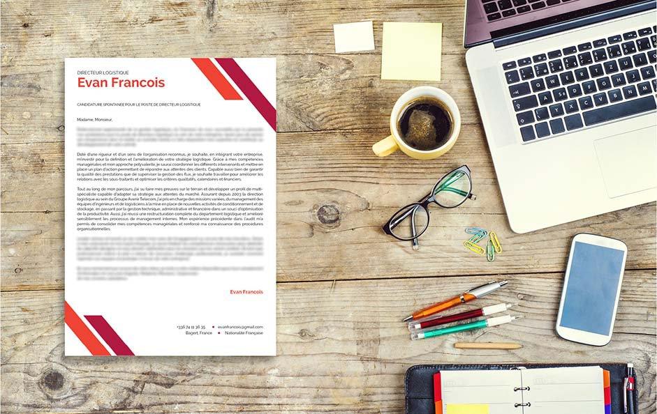 Une lettre de motivation moderne pour un métier dans les transports et la logistique.