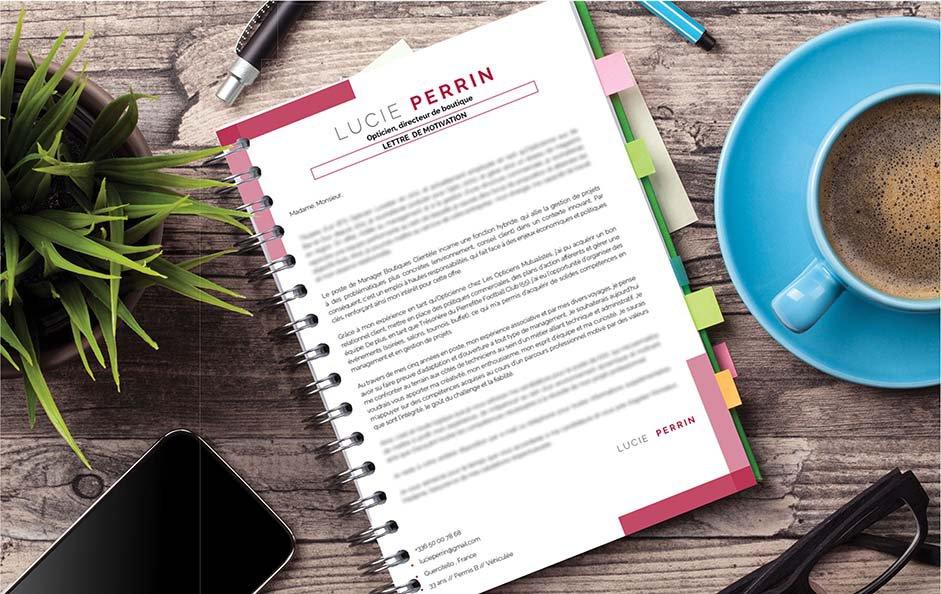 Une lettre de motivation artistique préconisée pour le secteur des ressources humaines et du management.