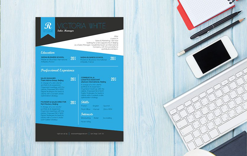 Clean and lightwight. The perfect resume template for professionals!
