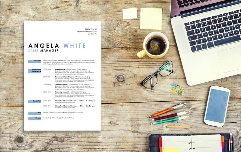 A simple resume template with a clean design sure to get you hired