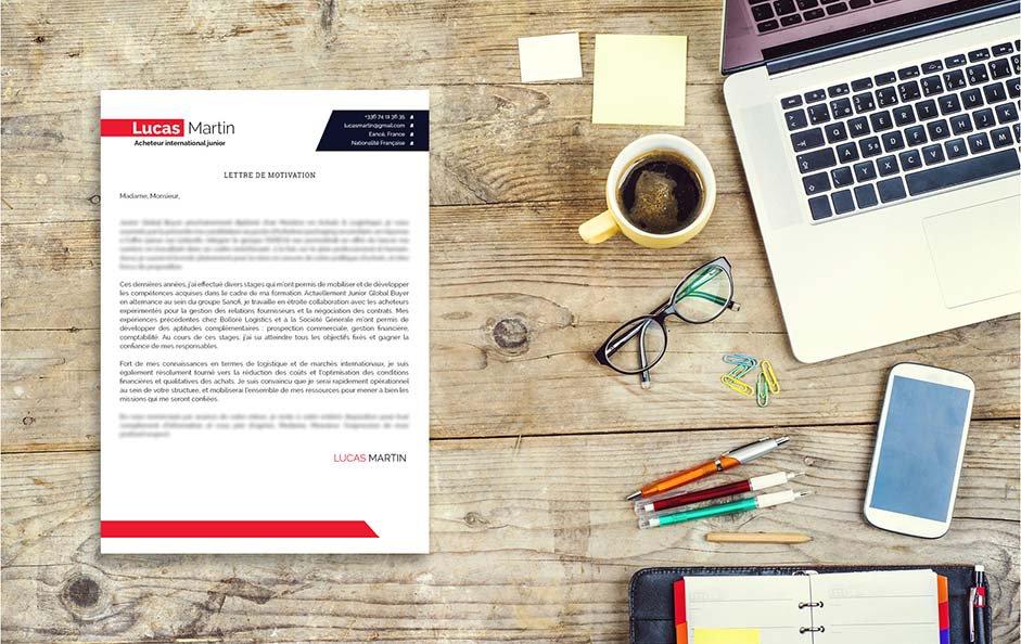 Une lettre de motivation type pensée pour le domaine de l'achat et du marketing.