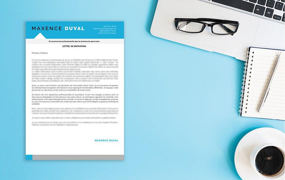 Une lettre de motivation word pour tout ce qui est comptabilité et distribution.