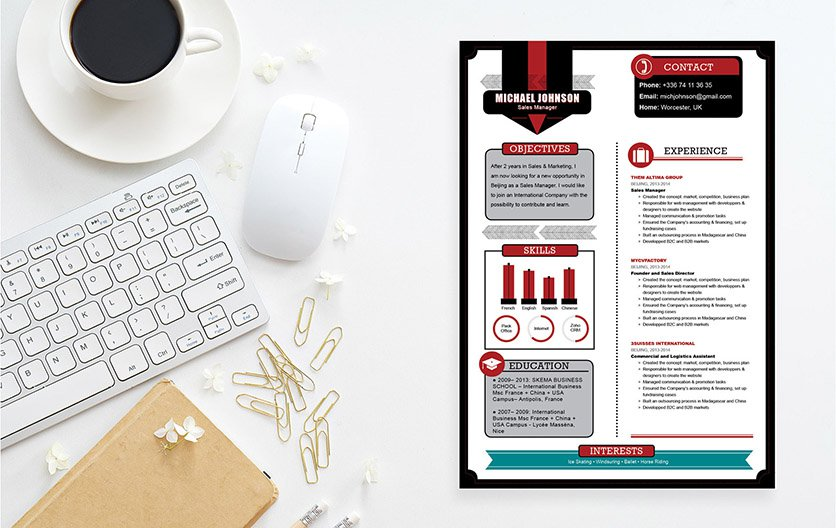 All the relevant information is excellently presented in this good resume template