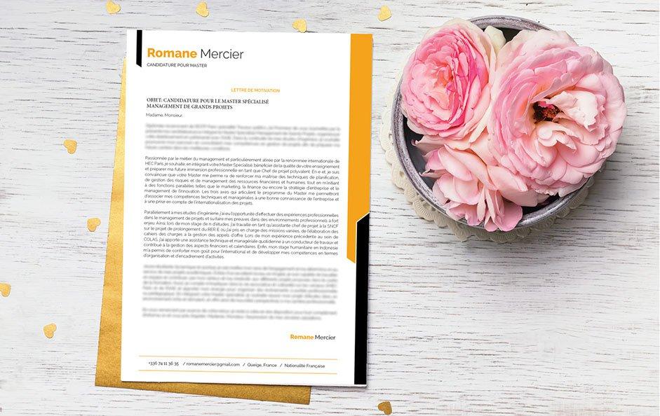 Une lettre de motivation pensée pour le secteur du web et de la télécommunication.