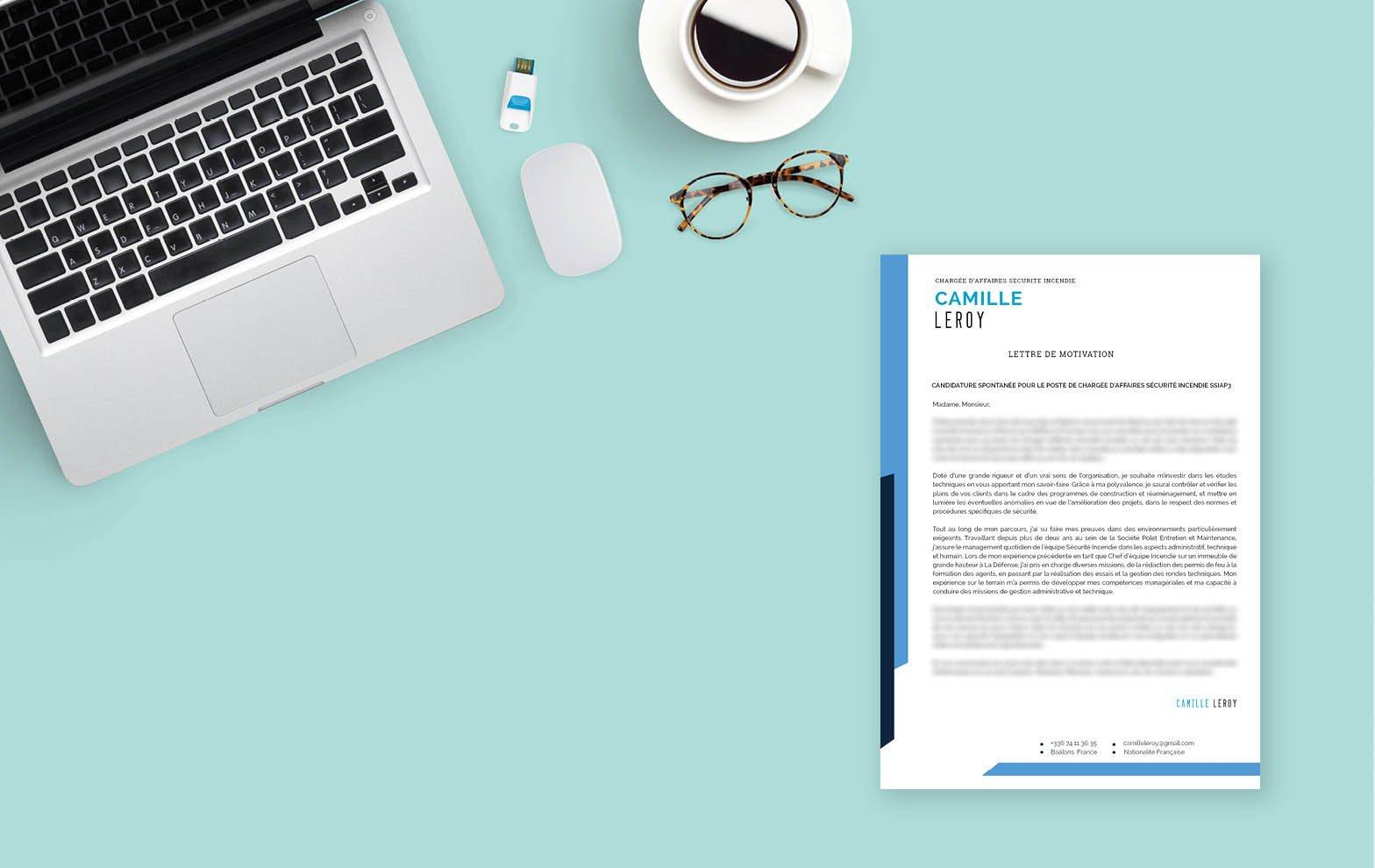 Une lettre de motivation créative pour un poste à responsabilités dans le domaine de l'assurance et de l'immobilier.