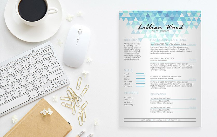 This is one modern resume template that  features a simple format perfect for professionals!