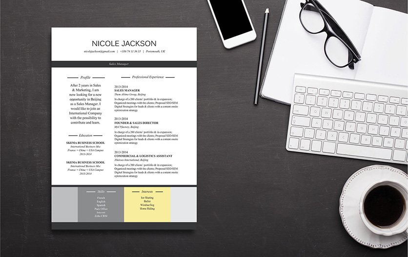 A functional resume template made for writers!