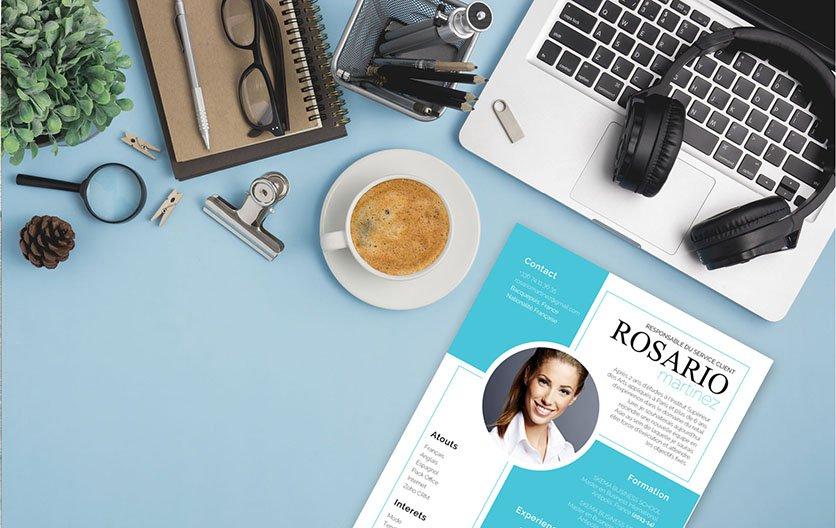 Un CV créatif dont la thématique reflète l'ouverture d'esprit et les aptitudes professionnelles du postulant.