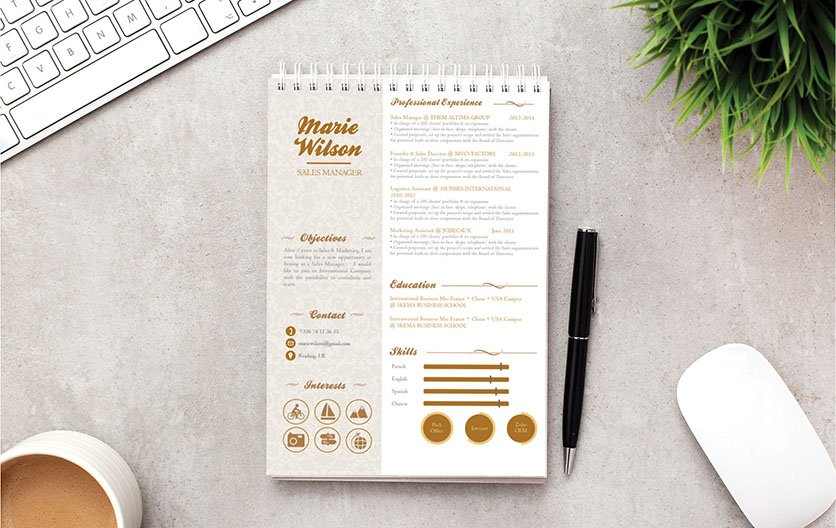 Every section is very well written in this professional resume template