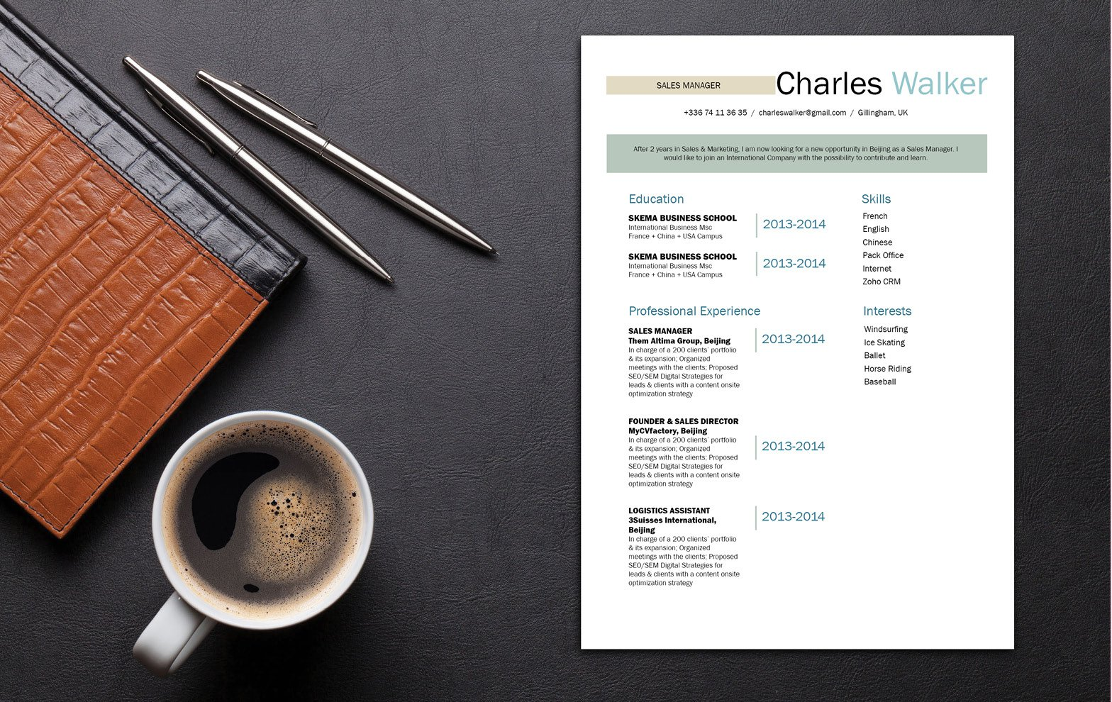 Don't let this simple resume fool you -- it has a creative and functional design that is sure to land you an interview