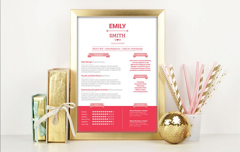 A geniously designs template makes for a great resume!
