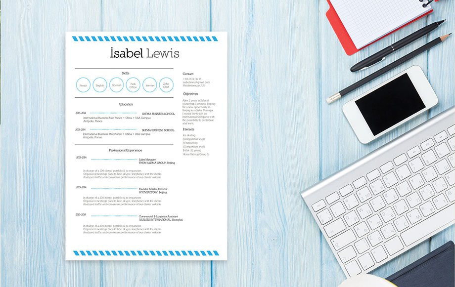 The great style and layout makes this template a great starting point for creating a good resume