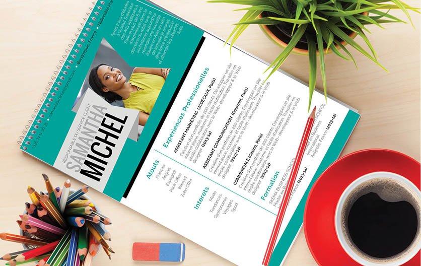 Un CV à télécharger sortant du lot, car d'une présentation soignée et d'une mise en page agréable.