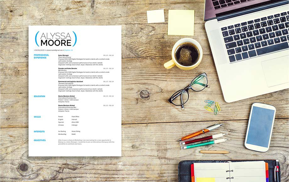 A good resume with an effective design and structure made for all job types.