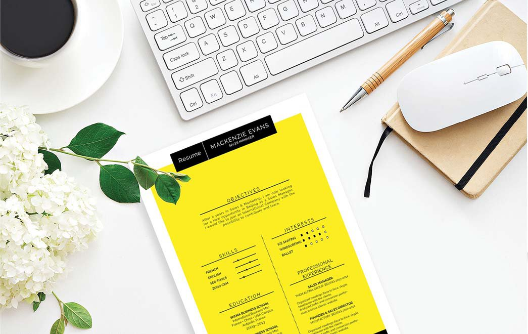 A good resume template that has all the elements of a great CV