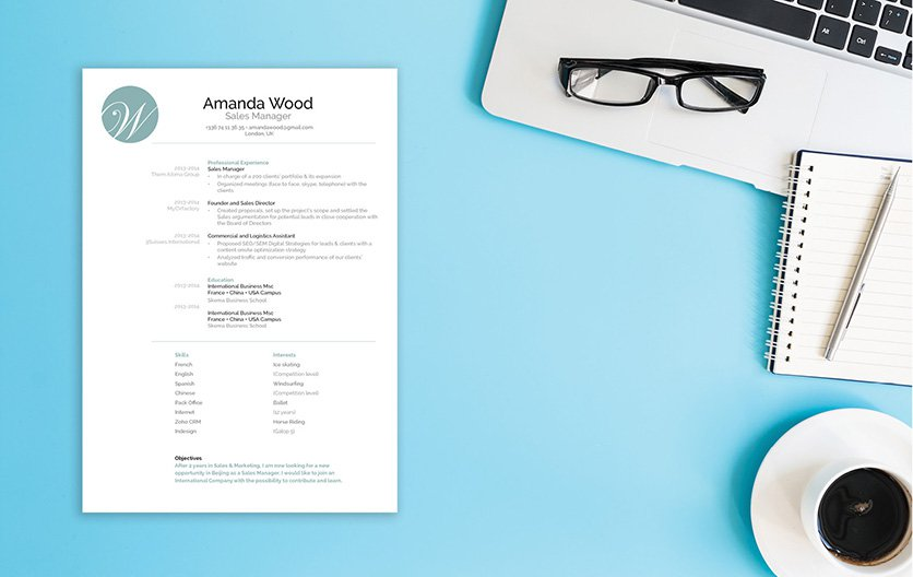 A candidate will truely shine using this professional resume template