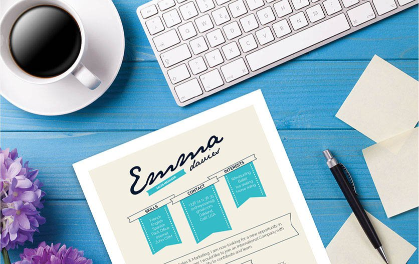 This functional resume template has design elements perfectly fitted for the modern job seeker