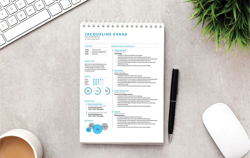 Functional and clean resume template perfect for the modern job