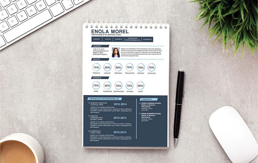 Un exemple de CV où l'agencement de ses détails suscite l'intérêt du recruteur.