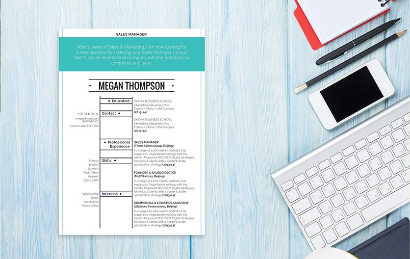 This modern resume template will help you climb the ladder in your industry