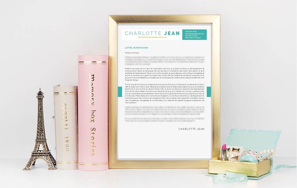 Un modèle de lettre de motivation template singulier et parlant.