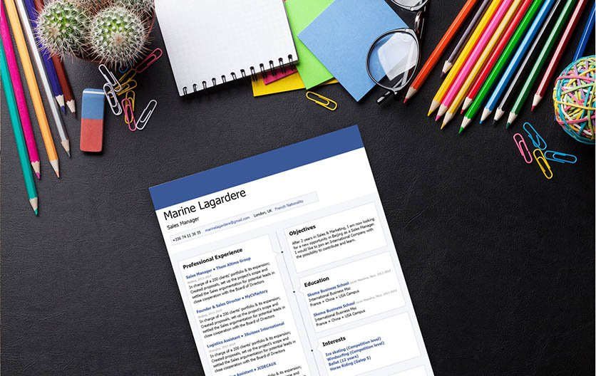 A functional resume template with a creative design perfect for all job types