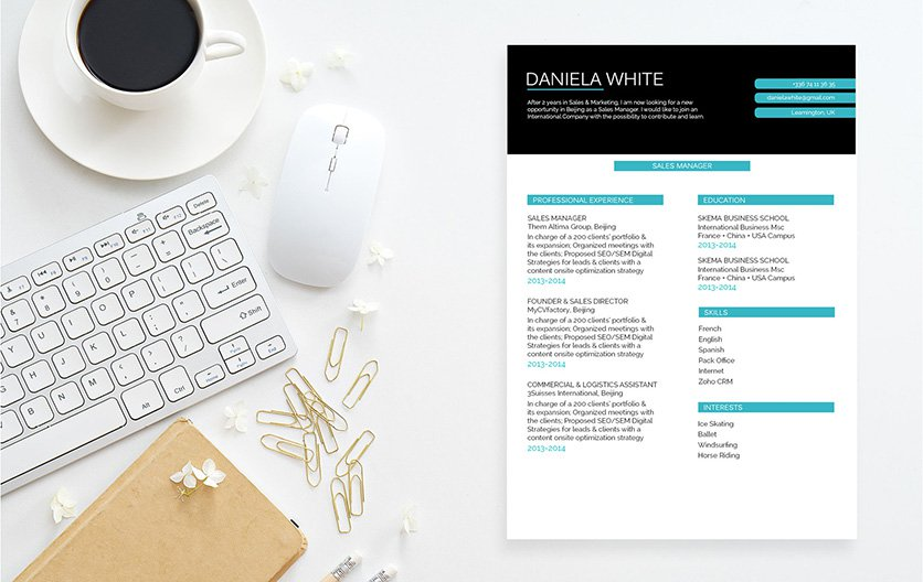 The colors used in this template is sure to create a good resume for any job type!